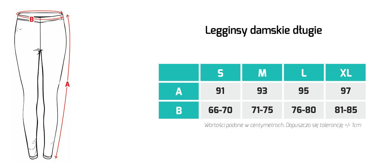 Tabela rozmiarów - legginsy damskie Mastiff